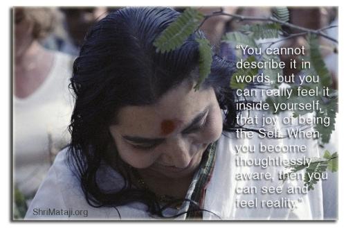 thoughtless awareness Shri Mataji Nirmala Devi