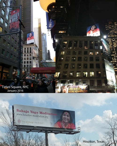 ShriMataji billboard NY city-Houston