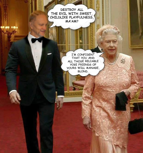 ED BLOND AND THE QUEEN