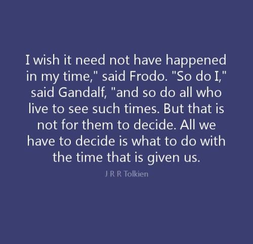 Gandalf-Frodo-MOMENTOUS TIMES