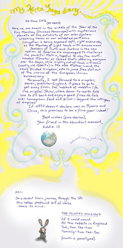 My KritaYuga diary 2016-6-26