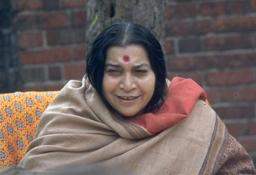 Shri Mataji enjoying